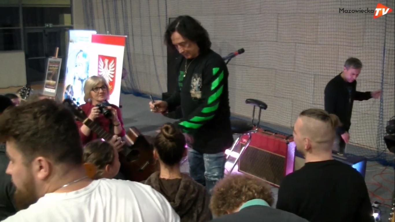 Jan Borysewicz poprowadził warsztaty muzyczne w Białobrzegach