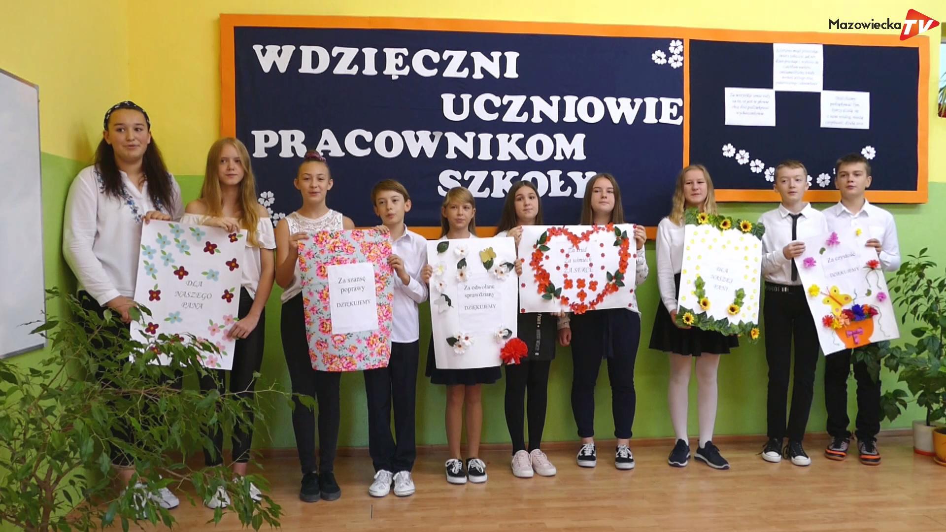 Serdeczne życzenia dla nauczycieli od uczniów ZPSPiPP w Michałowicach